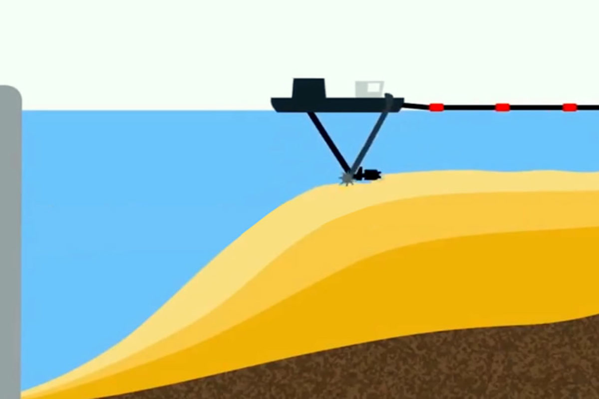 Dam dredging. How it works